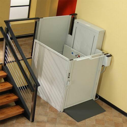 Bruno Commercial 3 Gate Vertical Platform Lift