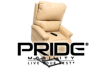 pride lift chair with logo