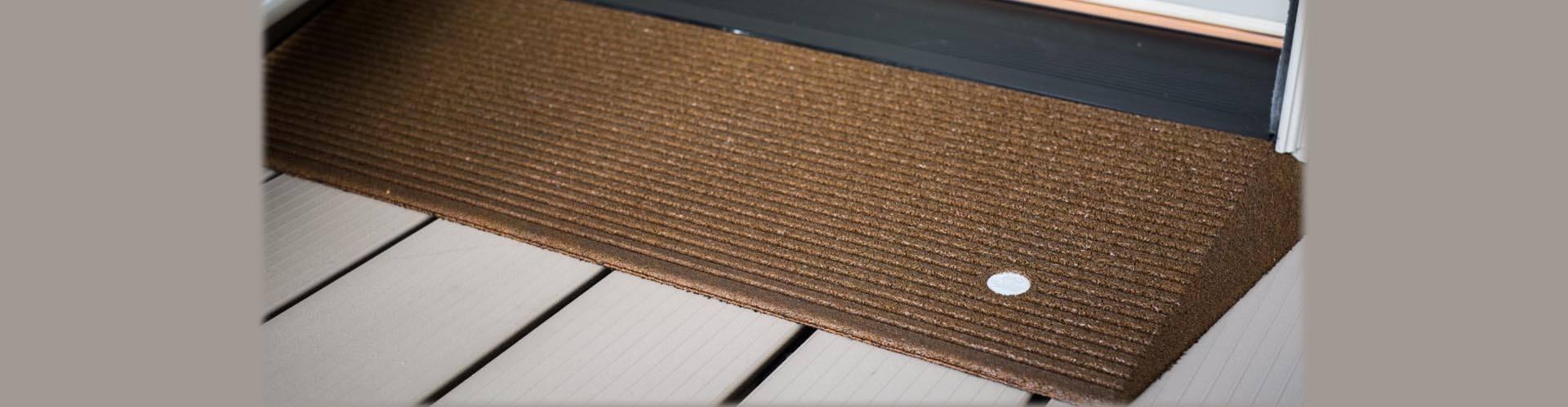rubber entry ramp mat